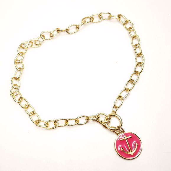 Jewelry - Fornash Anchor Necklace Nautical Pink Pendant